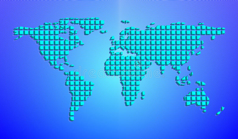 Abstract world map from 3d squares vector illustration stock download abstract world map from 3d squares vector illustration stock vector illustration 89444355 gumiabroncs Images