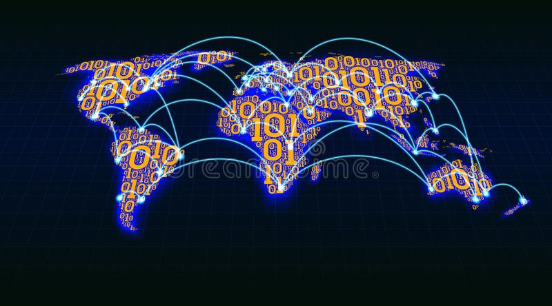 Abstract world map from digital binary code on a grid background download abstract world map from digital binary code on a grid background global internet transactions gumiabroncs Choice Image