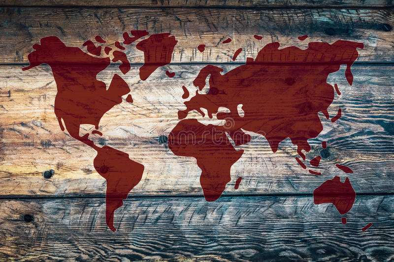 Abstract World Map stock photography