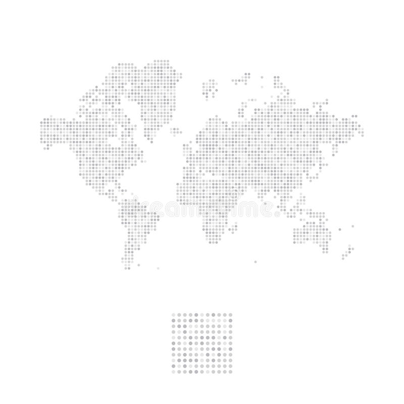 Abstract world map in a round dots flat illustration eps 10 stock download abstract world map in a round dots flat illustration eps 10 stock illustration gumiabroncs Image collections