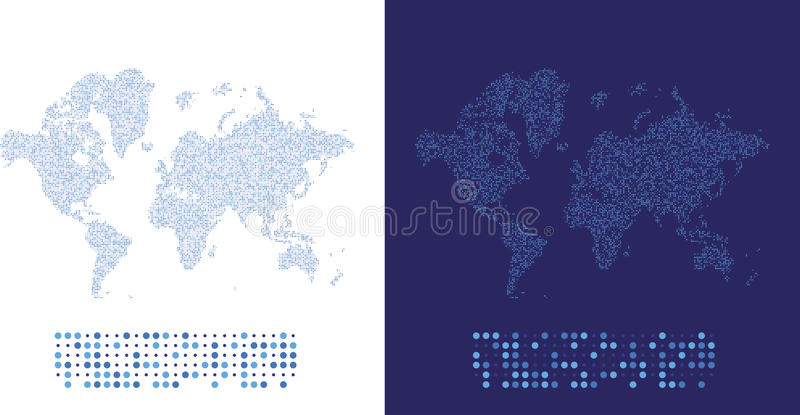Abstract world map in a round dots flat illustration eps 10 stock download abstract world map in a round dots flat illustration eps 10 stock illustration publicscrutiny Gallery