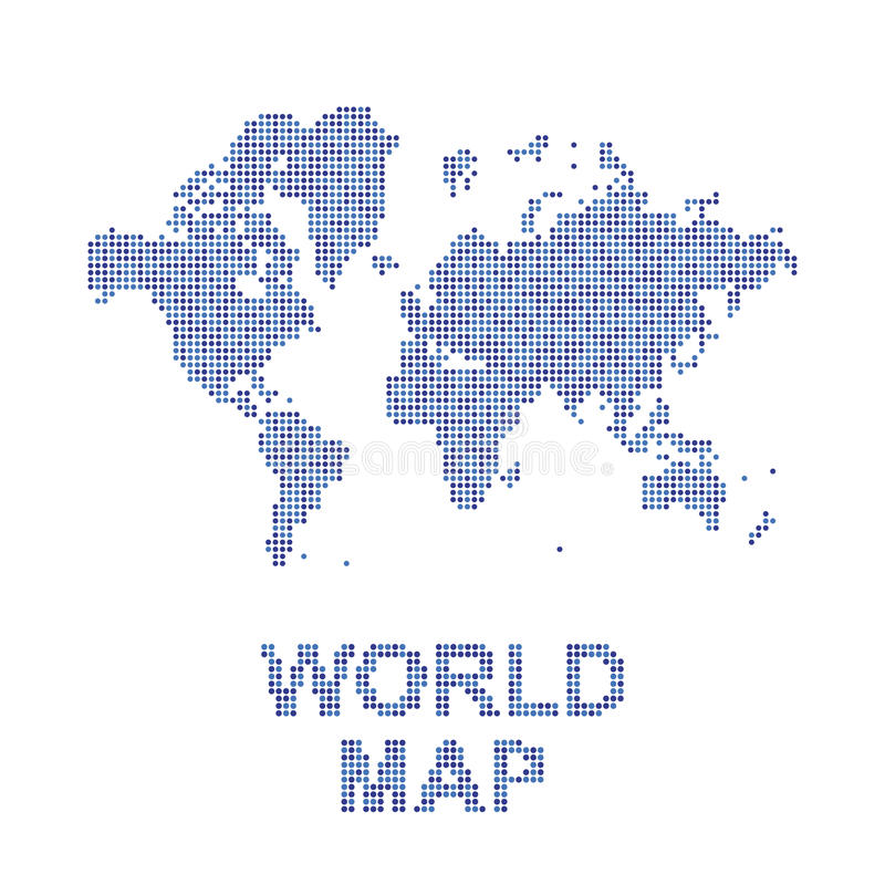 Abstract world map in a round dots flat illustration eps 10 stock abstract world map in a round dots flat illustration eps 10 publicscrutiny Gallery