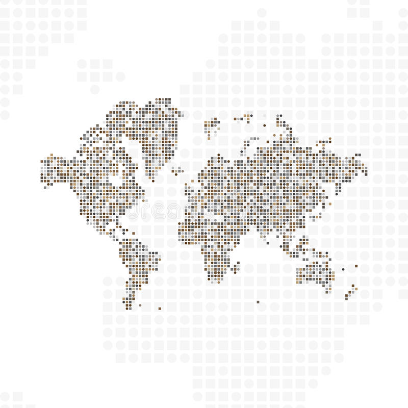 Abstract world map in a round dots flat illustration eps 10 stock download abstract world map in a round dots flat illustration eps 10 stock illustration gumiabroncs Gallery