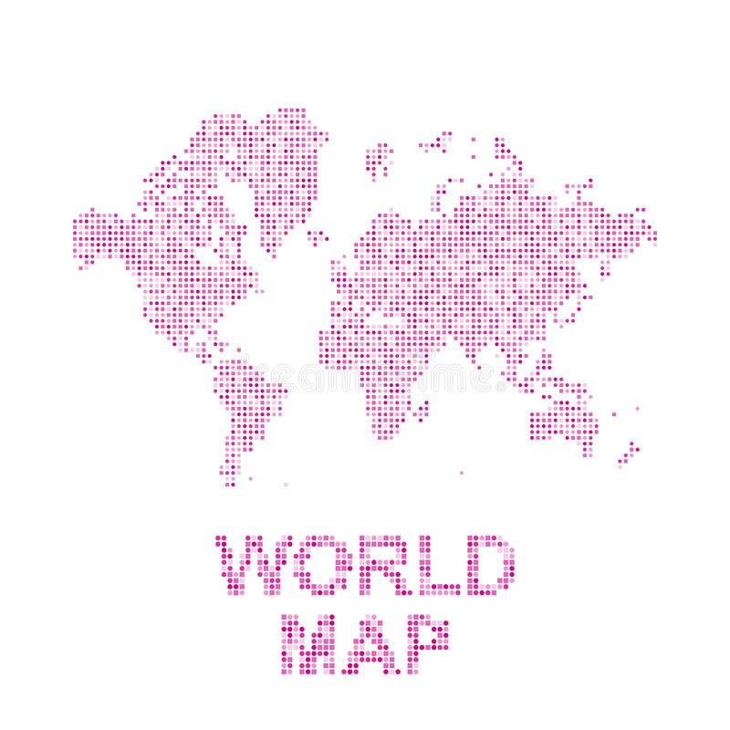 Abstract world map in a round and square dots flat illustration eps download abstract world map in a round and square dots flat illustration eps 10 stock publicscrutiny Gallery