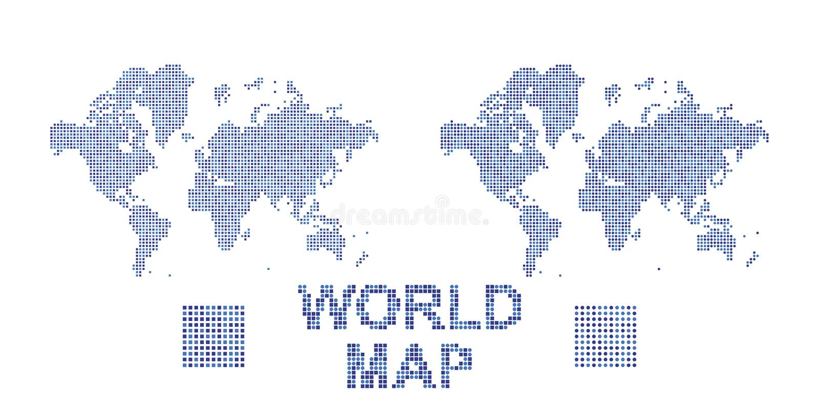 Abstract world map in a round and square dots flat illustration eps abstract world map in a round and square dots flat illustration eps 10 publicscrutiny Gallery