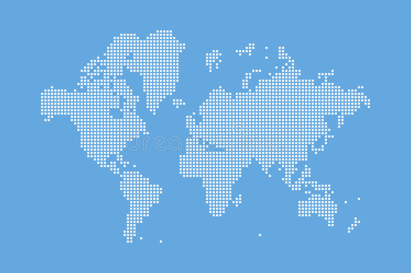 Abstract world map in a square dots flat illustration eps 10 stock download abstract world map in a square dots flat illustration eps 10 stock illustration gumiabroncs Image collections
