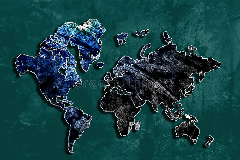 Abstract World - World Map 2 royalty free stock images