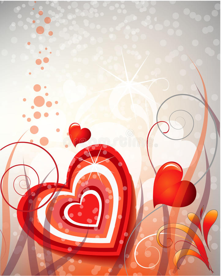 Download Abstract wreath with heart stock vector. Image of amaranthine - 20653171