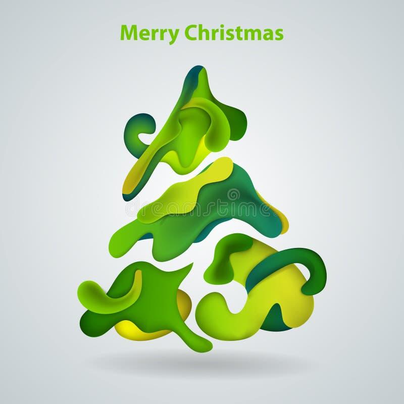 Download Abstract xmas tree stock vector. Image of season, december - 22305817