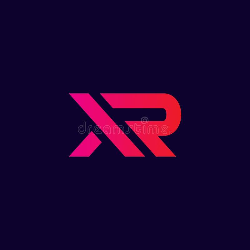 Abstract xr logo , modern letter xr logo initials royalty free illustration