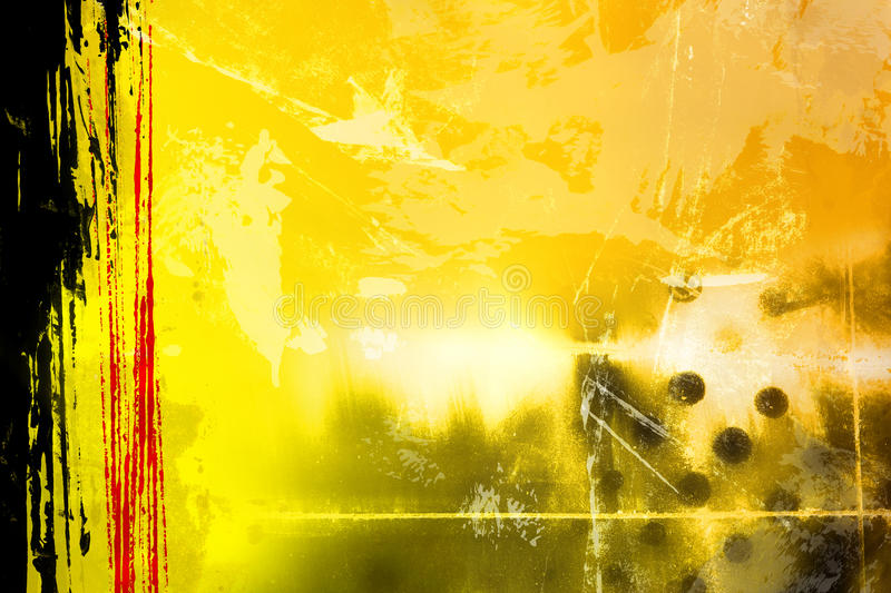 Abstract Yellow royalty free stock image