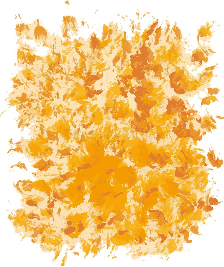 Abstract yellow artistic Background forming by blots stock photo