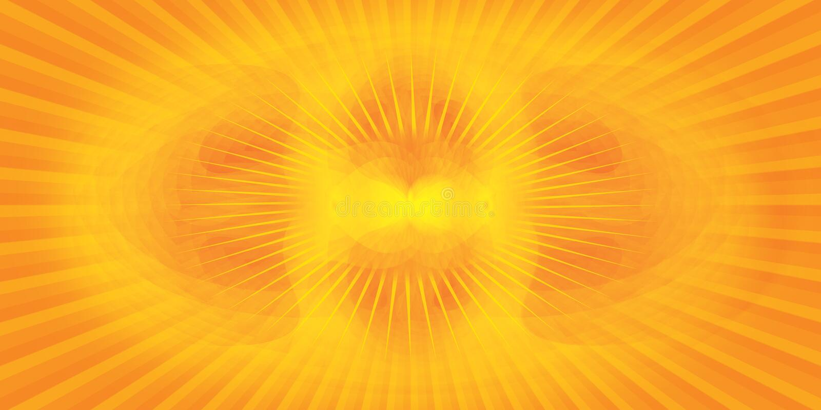 Download Abstract yellow background stock illustration. Illustration of radiance - 2163214