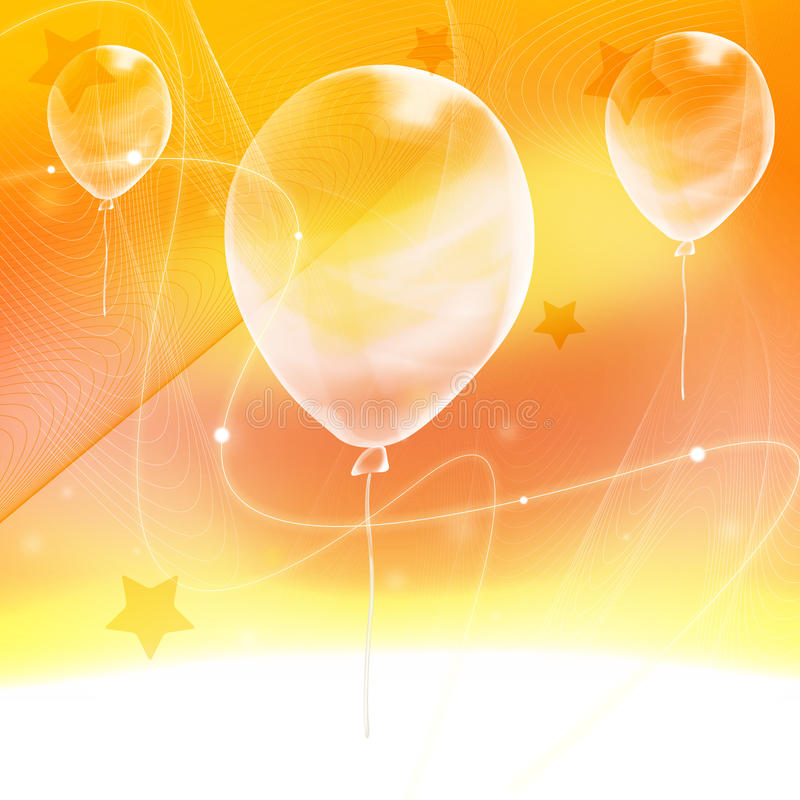 Download Abstract Yellow  Background  With Ballon Stock Illustration - Image: 10010640