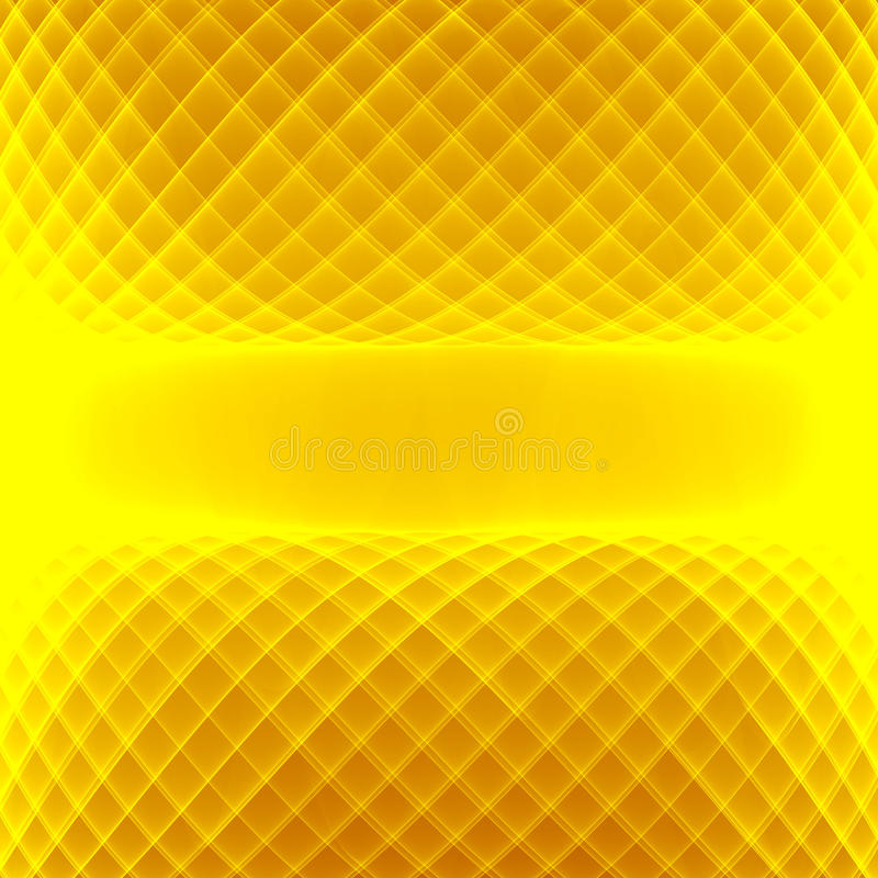 Abstract yellow background. Bright yellow lines. Geometric pattern in yellow and brown colors. stock illustration
