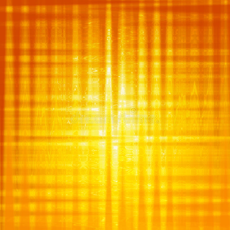 Abstract yellow background with shining squares vector illustration