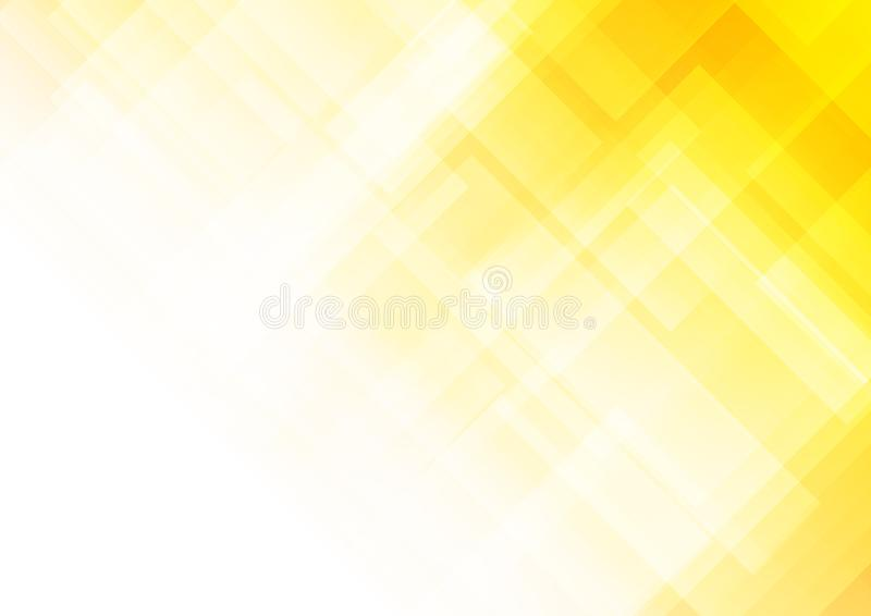 Abstract yellow background with square shapes stock illustration