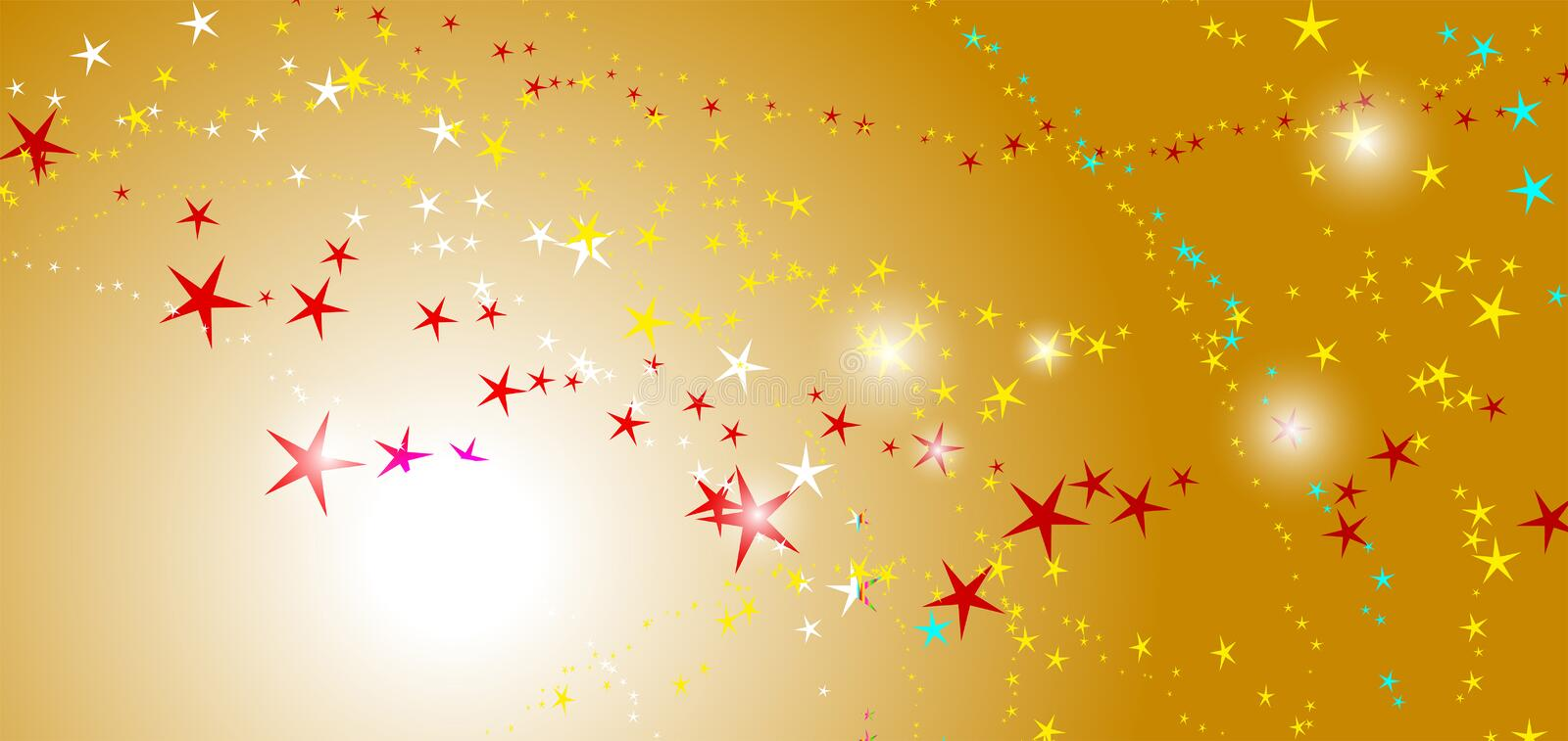 Abstract yellow background with stars. Starry background stock illustration