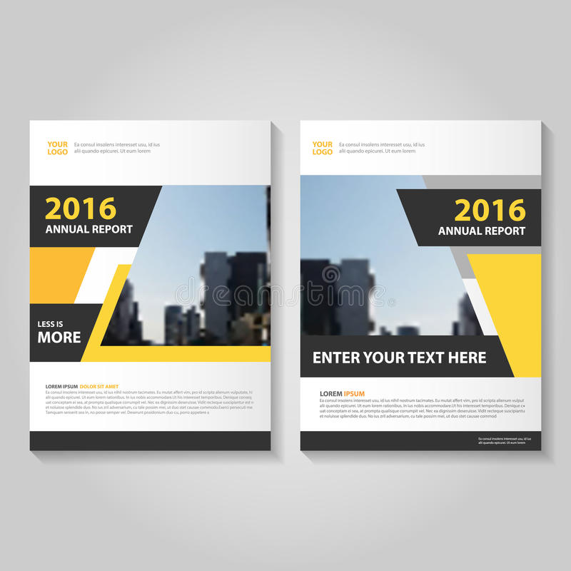 Abstract yellow black annual report Leaflet Brochure Flyer template design, book cover layout design vector illustration