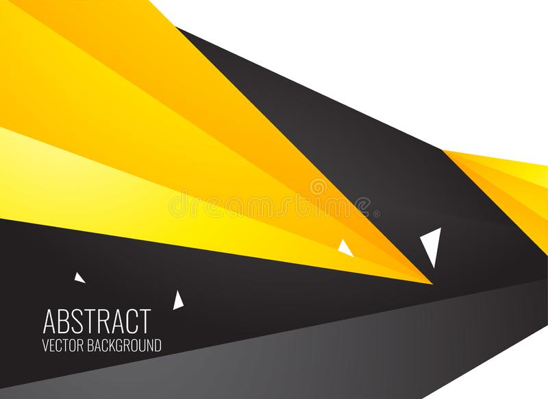 Abstract yellow and black geometric shapes background vector illustration