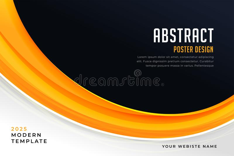 Abstract yellow and black presentation poster vector illustration