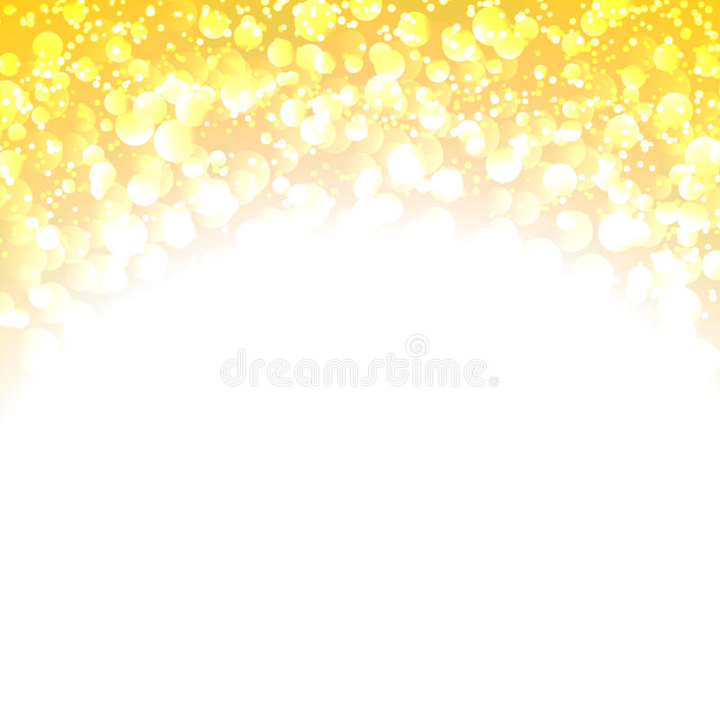 Download Abstract Yellow  Bokeh On White Background Stock Vector - Illustration of gleam, decoration: 39504116