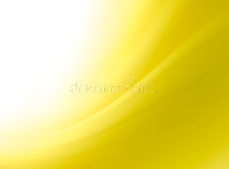 Abstract yellow curves background. With space for text
