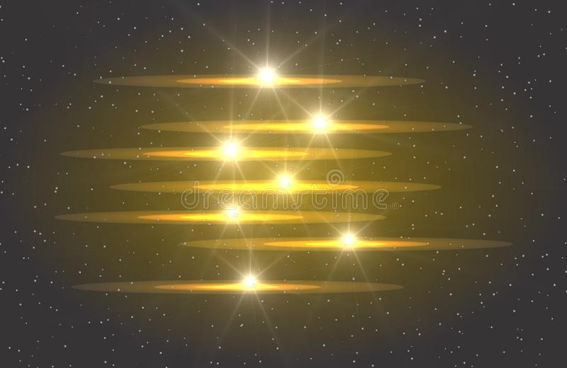 Abstract vector glowing magic star light effect from the neon blur of curved lines. Glittering stars dust trail from the. Glitter, royalty free illustration