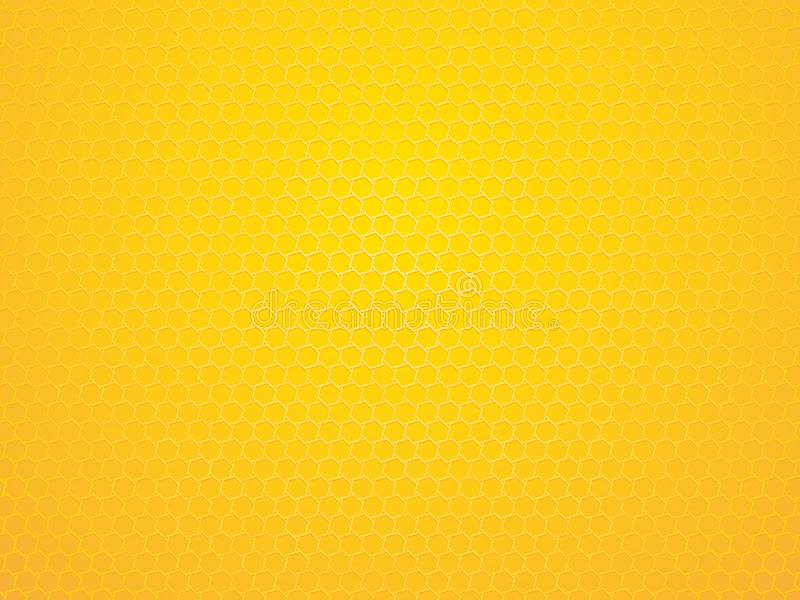 Abstract yellow geometric hexagon background royalty free illustration