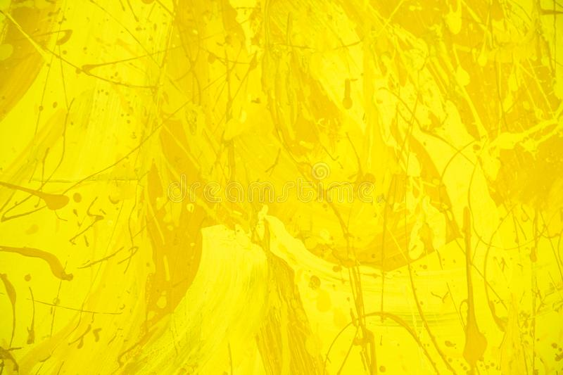 Abstract yellow or gold watercolor background. art hand paint.grunge concrete wall texture royalty free stock photos