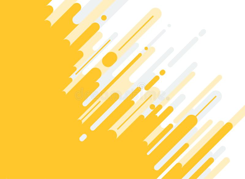Abstract yellow and gray Rounded Lines dialognal Halftone Transition Background. royalty free illustration