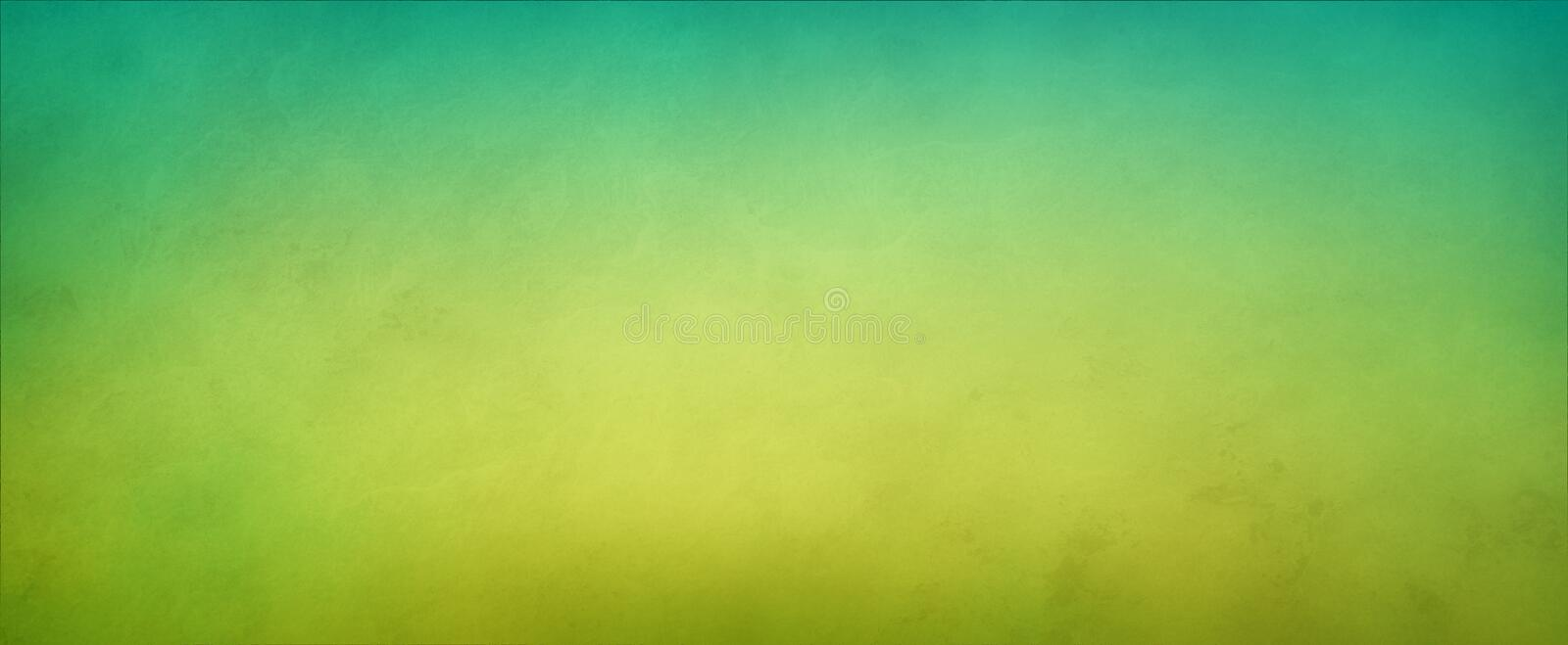 Abstract yellow green background with soft bright center glowing with light colors and blue green border royalty free stock image