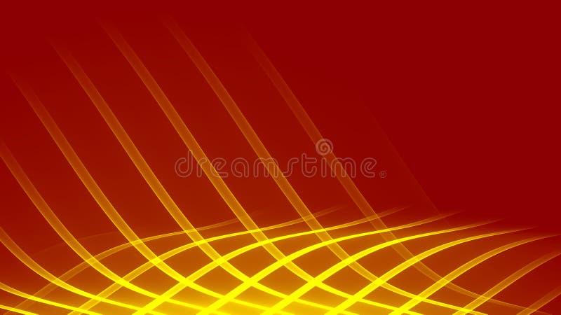 Abstract yellow Illuminated waves illustration stock photos