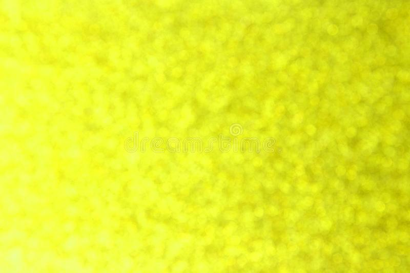 Abstract yellow lemon bokeh background for christmas, Celebration concept. stock images