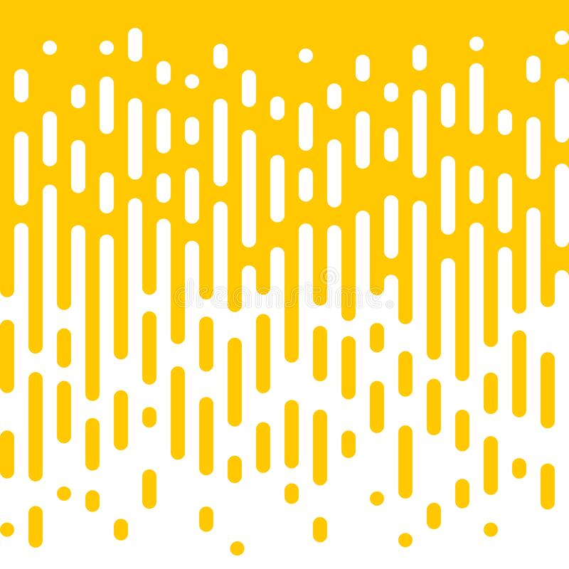 Abstract yellow line flow halftone background. Abstract yellow and white line flow halftone background. Vector seamless pattern of irregular liquid color royalty free illustration