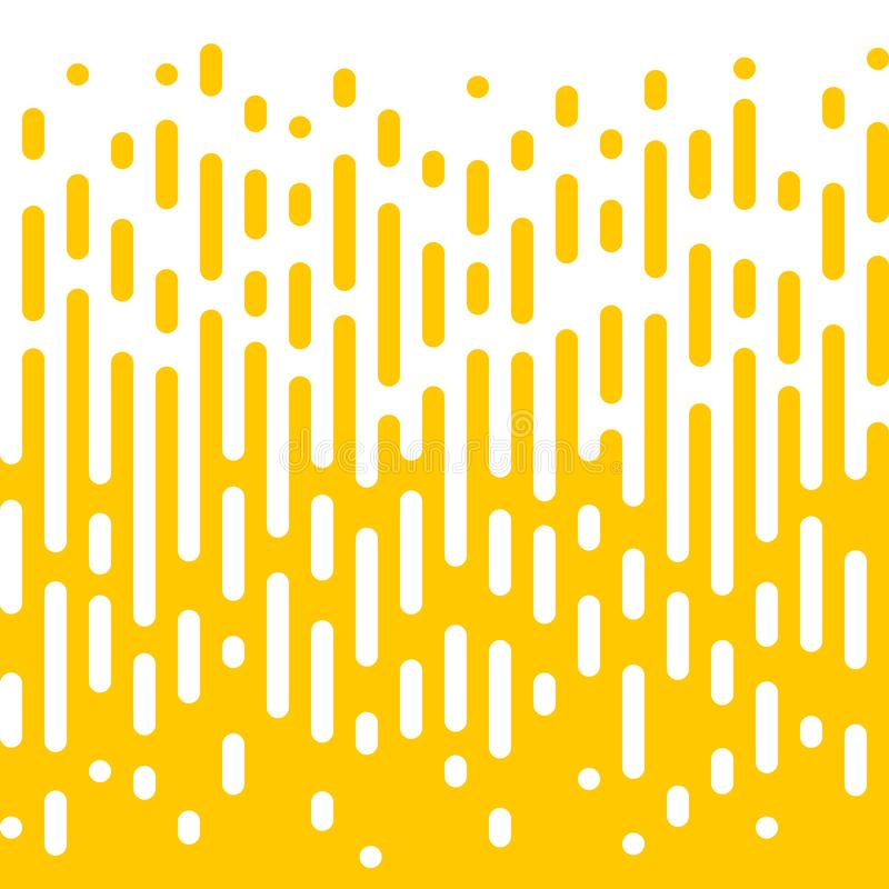 Abstract yellow line halftone liquid background vector illustration