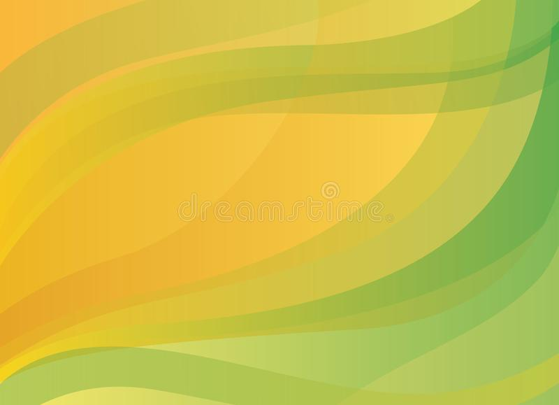 Abstract yellow-orange and green vector background vector illustration