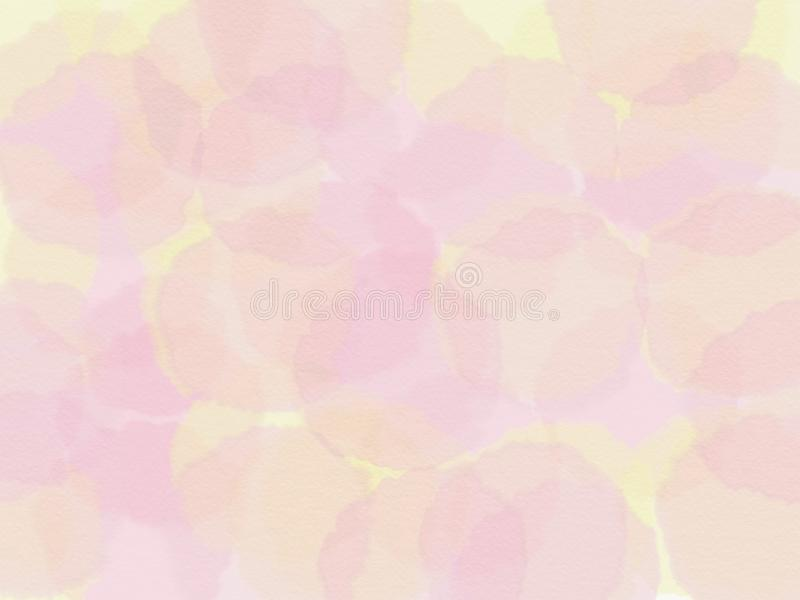 Abstract yellow and pink background. raster illustration royalty free stock photography