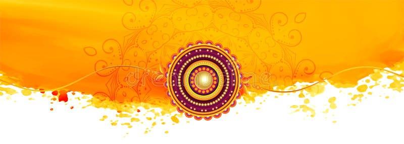 Abstract yellow raksha bandhan festival banner design vector illustration