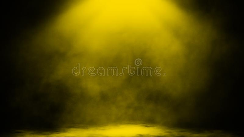 Abstract smoke with light effect. Lighting spotlighting texture overlays. Design element. Abstract yellow smoke with light effect. Lighting spotlighting texture royalty free stock photo