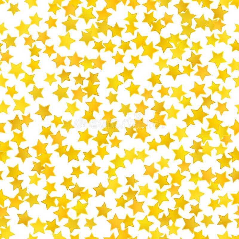 Abstract yellow star background. Vector illustration. For gold design. Golden color. Shiny decoration. Symbol celebration. Holiday award shape. Bright banner stock illustration