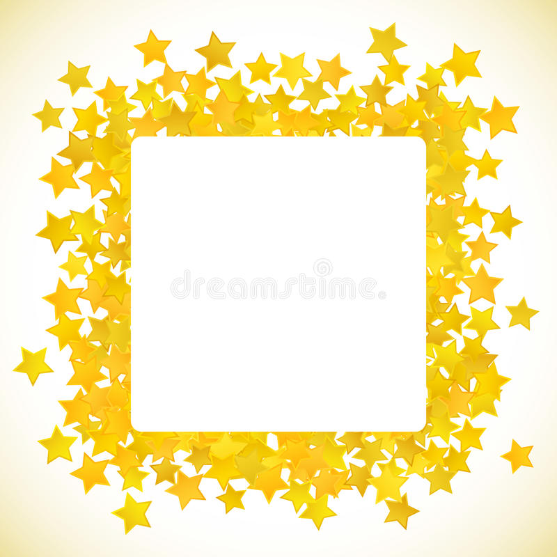 Abstract yellow star background. Vector illustration. For gold design. Golden color. Shiny decoration. Symbol celebration. Holiday award shape. Bright banner royalty free illustration