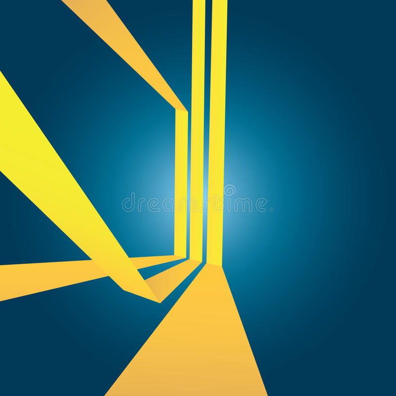 Abstract Yellow Stripes Layout royalty free illustration