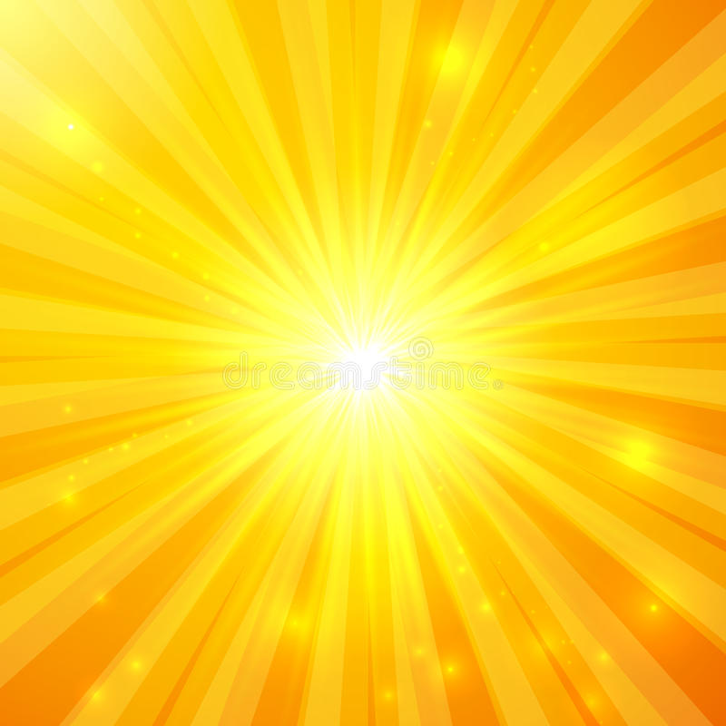 Abstract Yellow Vector Sunny Background Stock Vector