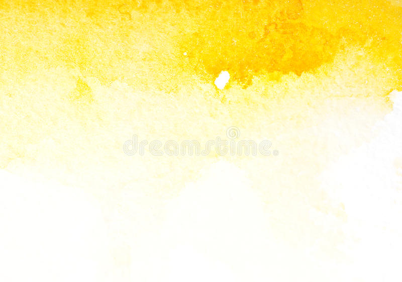 Abstract yellow watercolor art royalty free illustration