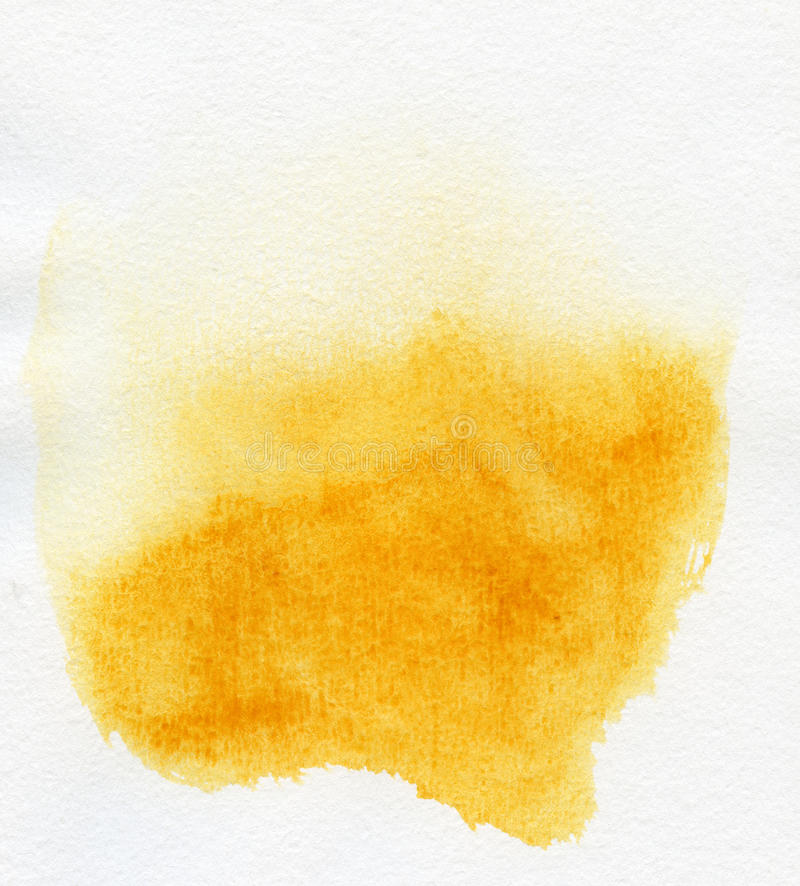 Abstract yellow watercolor background stock photo