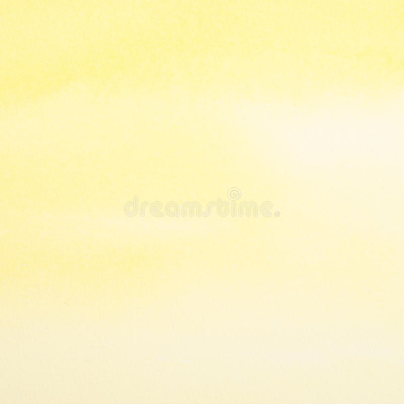 Abstract yellow watercolor background royalty free stock image