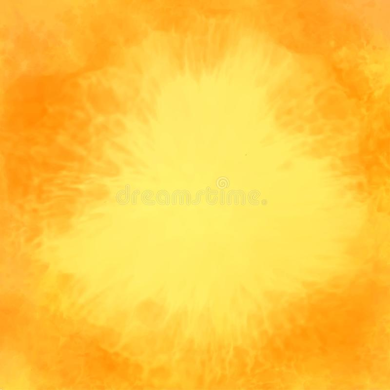 Abstract yellow watercolor texture background royalty free illustration