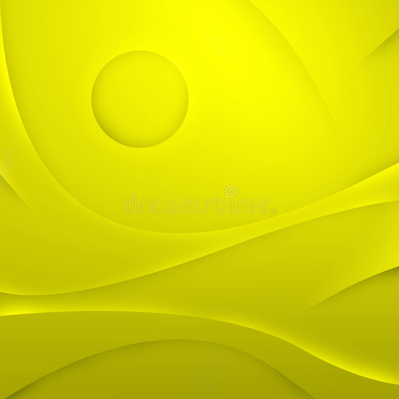 Abstract yellow waves background stock images