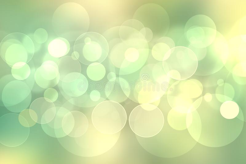 Abstract yellow white and light green delicate elegant beautiful blurred background. Fresh modern light texture  with soft style. Design for happy spring and stock photo